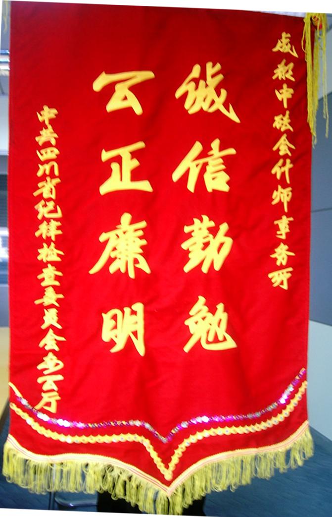 省纪委赠锦旗